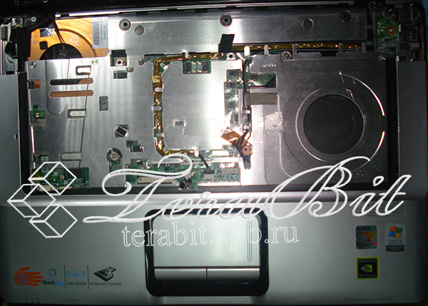 Разборка верхней части корпуса ноутбука HP Pavilion vd6000