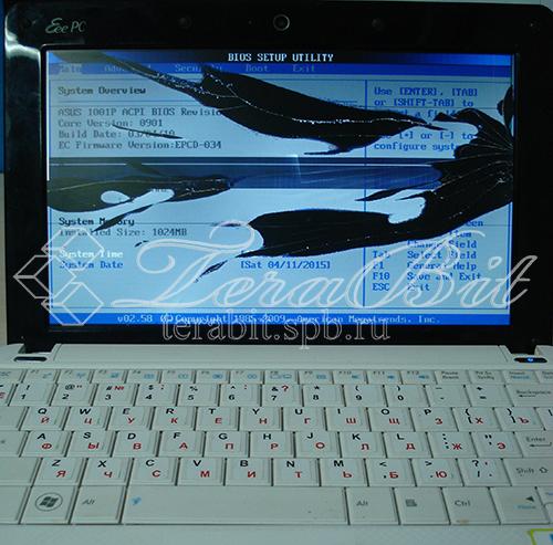 Нетбук Acer 1001P с разбитым экраном