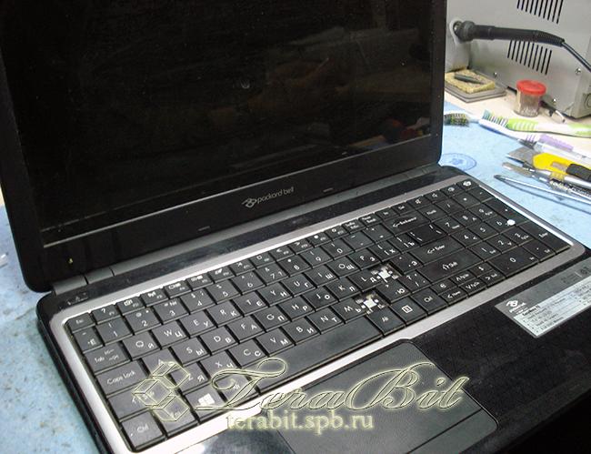 Ноутбук Packard Bell Z5WT1, требуется замена клавиатуры.