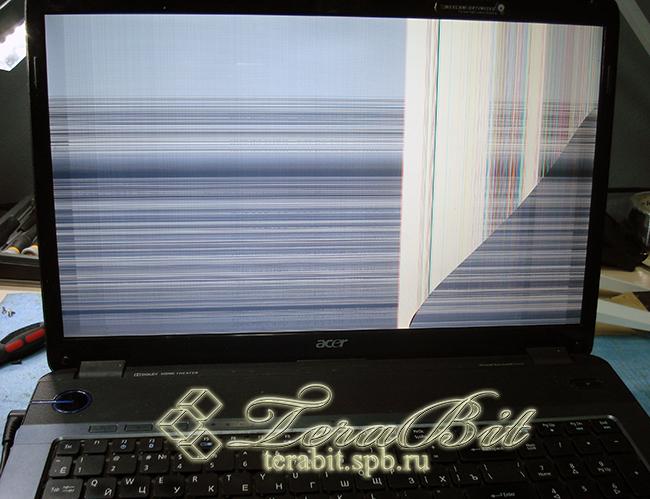 Разбитая матрица ноутбука Acer Aspire 7540G