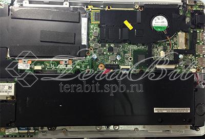 Снятие крышки ноутбука Asus E201E