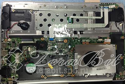 Извлечение жесткого диска и системы охлаждения Asus E201E