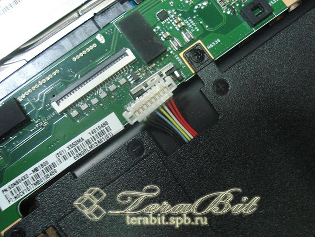 Отключение шлейфа ноутбука Asus X553M
