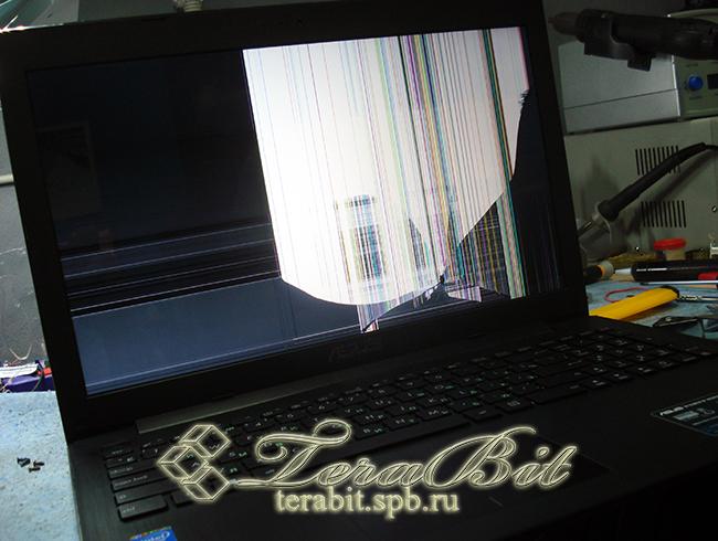 Ноутбук  Asus X553M во включенном состоянии
